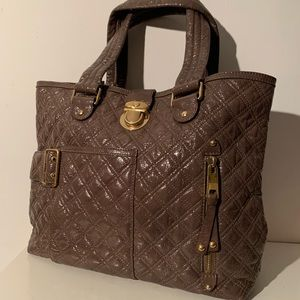 Marc Jacobs Quilted Patent Leather Tote